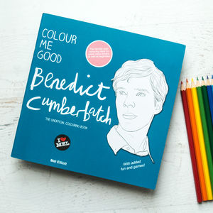 Benedict Cumberbatch Colouring Book By Colour Me Good - colouring books