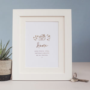 All Together Home Foil Print - family & home