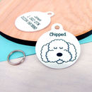 Personalised Pet ID Tag Monochrome