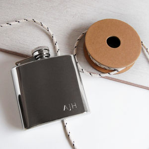 Pocket Hip Flask With Initials - wedding thank you gifts