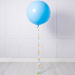 Baby Blue Giant Circle Tail Balloon