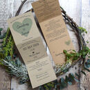 Recycled Heart Tri Folded Wedding Invitation