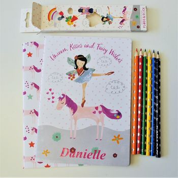 Personalised Unicorn Notebook Set
