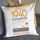 personalised 80th birthday gift cushion