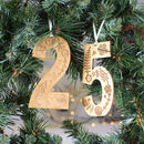 Personalised Hanging Number Keepsake Decoration