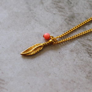 Children's Feather Charm Necklace