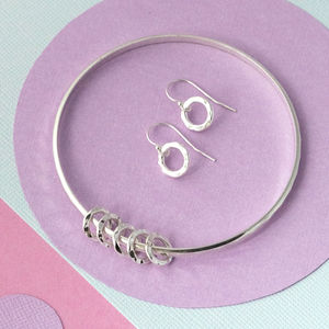 50th Birthday Silver Bangle - bracelets & bangles