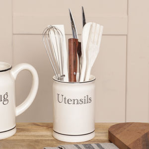 Country Cream Utensils Pot