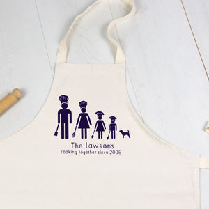 Personalised Chef Family Apron