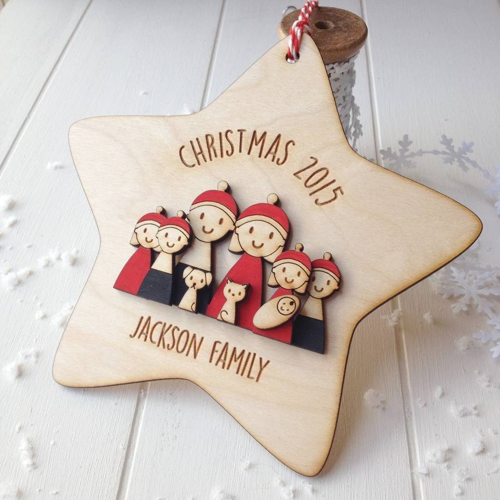 Personalised My Family Christmas Star Decoration By Just Toppers