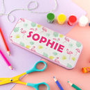Personalised Pencil Tin With Flamingo Design