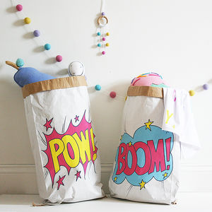 Personalised Superhero Toy Storage Bag