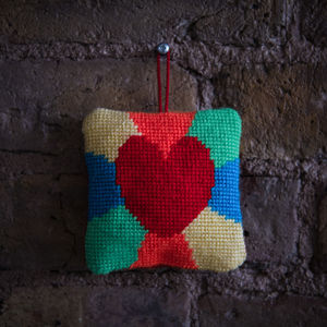 Heart Tapestry Lavender Bag Kit - sewing & knitting