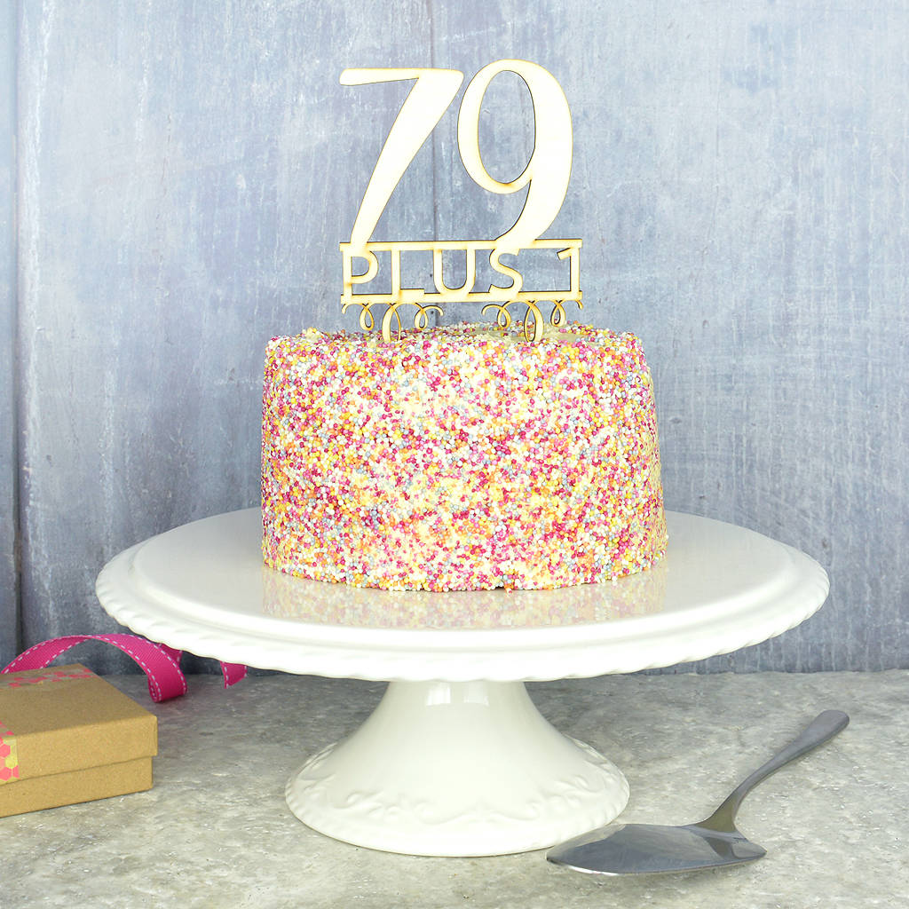 80th birthday cake topper by pink and turquoise notonthehighstreetcom