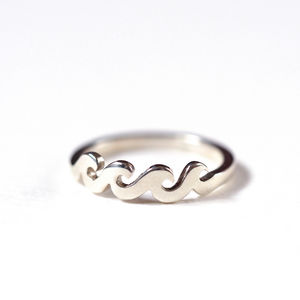 Wave Ring Handmade Sterling Silver