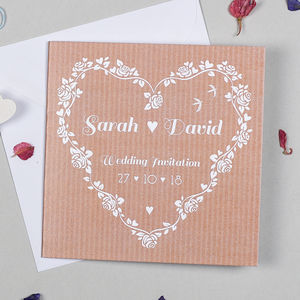Floral Heart Wedding Invitation