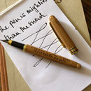 Personalised Bamboo Fountain Ink Pen