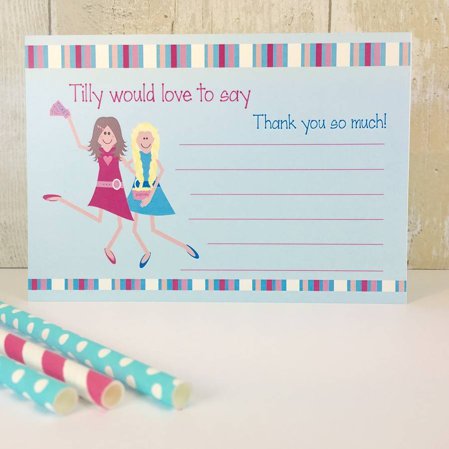 16 cinema party invitations or thank you cards by little fish ...