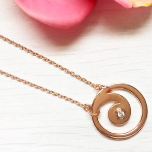 Rose Gold And Diamond Gratitude Pendant