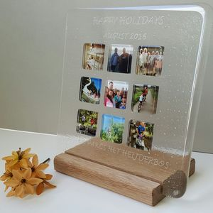 Personalised Holiday Glass Photograph Display Frame - picture frames