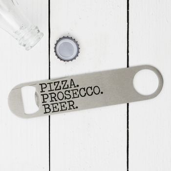 Personalised Favourite Things Bottle Opener