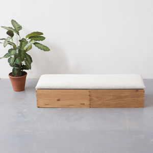 Wine Crate Ottoman Bedroom Storage - footstools & pouffes