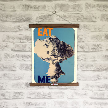 Retro 1960s Eat Me Anti Nuclear Print