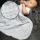 Personalised Luxury Grey Baby Blanket Gift
