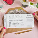 Map Boarding Pass Wedding Invitation