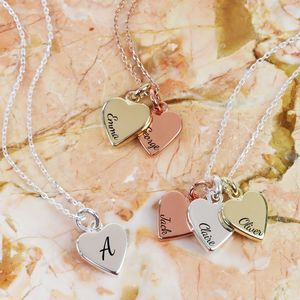 Personalised Mixed Metal Heart Necklace - necklaces & pendants