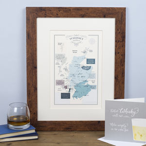 Whisky Map Of Distillery Regions In Scotland Print - posters & prints