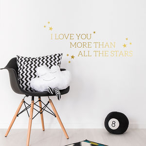 I Love You More Than All The Stars Wall Decal Sticker