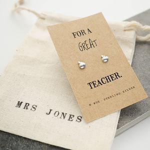 Great Teacher Apple Earrings - earrings