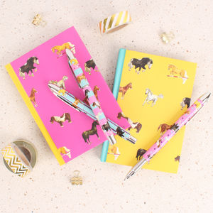 Horses Stationery Gift Set Notebooks And Pens - summer sale