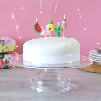 Tropical Themed Birthday Cake Candles