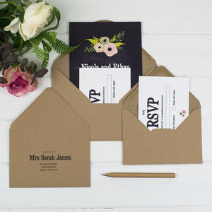 Russet And Gray Wedding Stationery Extras - invitations