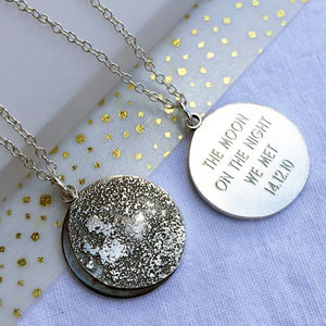 Personalised Moon Phase Necklace - celestial jewellery