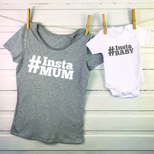 Instamum And Baby Mother And Child T Shirt Set