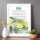 Cycling Poem Print