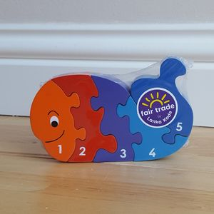Jigsaw Wooden Whale 1-5 - board games & puzzles
