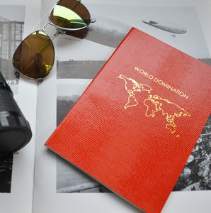 A5 Softcover 'World Domination' Notebook - notebooks & journals