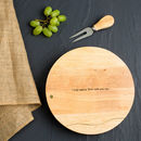 Personalised 50th Birthday Cheese Board And Knife Set