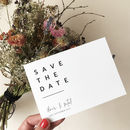 Modern Type Wedding Save The Date