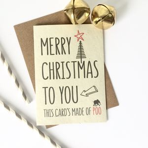 Funny Christmas Card Made Of Poo - cards & wrap