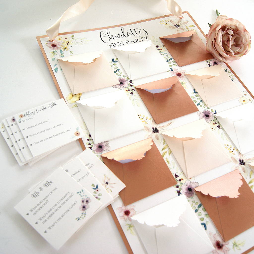 hen party and bridal shower keepsake game