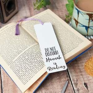 Personalised Do Not Disturb Bookmark