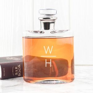 Magnificent Monogrammed L S A Decanter - gifts for him