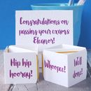 Personalised Pop Up Exam Congratulations Card