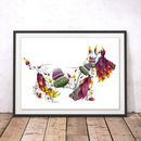 Scottie The Floral Dog Watercolour Fine Art Print