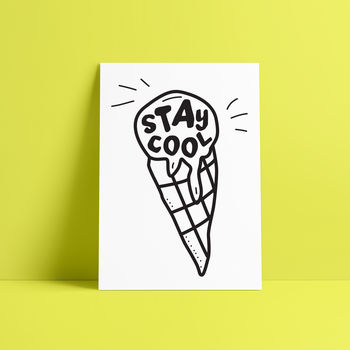 'Stay Cool' Doodle Print